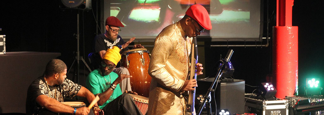 A photo from Free Jambalaya's collaborative production of AfroBeta live
